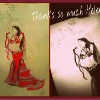 数週間前、彼女がボリウッドダンスをとても好きということがきっかけで私にメッセージを下さいました。 そして昨日は素敵な手描きの絵を贈ってくれました(^^) とても嬉しかったです。 ヘレンちゃん有難うございました(*^^*)
