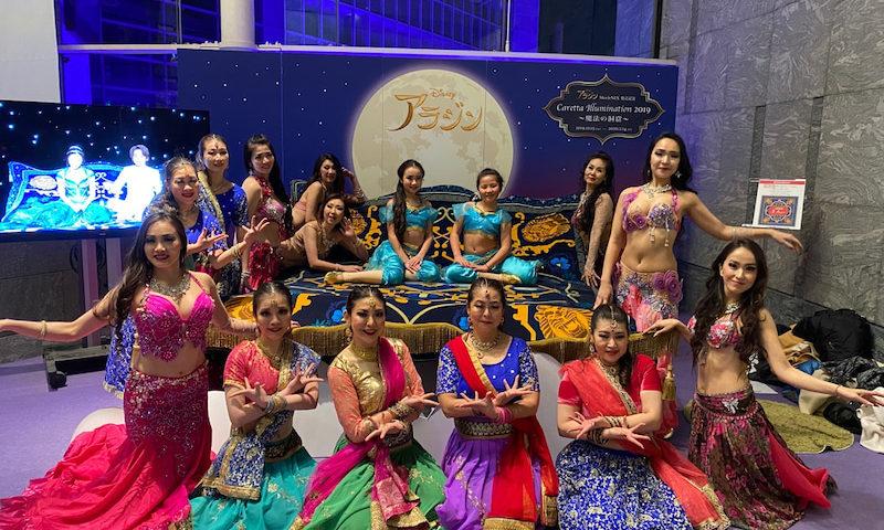 カレッタ汐留イルミネーションショーの2日目。アラジンショー。ベリーダンスとボリウッドダンスのパフォーマンスが素晴らしかったです。
