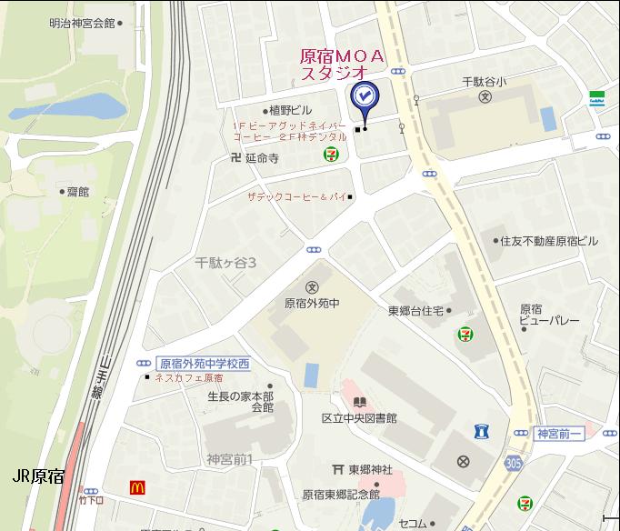 表参道スタジオ詳細地図