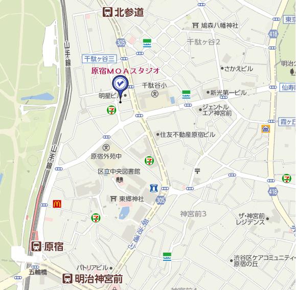 表参道スタジオ地図1